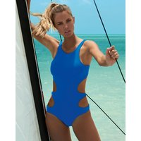Melissa Odabash Santa Cruz Cut Away One Piece - Sapphire