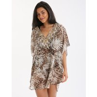 Miraclesuit Sheer Safari Caftan - Animal