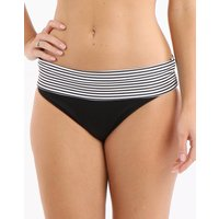 Anya Stripe Fold Pant - Black and White - UK Size 18 Black