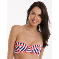 Phax Fluor Navy Cupped Bandeau - Stripe