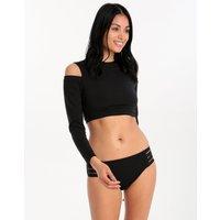Seafolly Active Cold Shoulder Rash Vest - Black