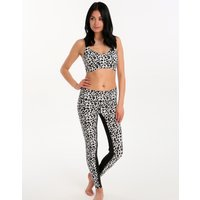 Seafolly Leopard Leggings - Black White
