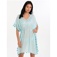 Seafolly Seafolly Mini Tassel Gauze Kaftan - Beach Blue