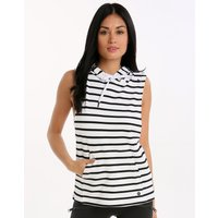 Seafolly Muscle Stripe Hoodie - Black and White