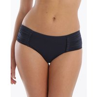 Seafolly Swim Pleated Retro Bikini Bottom - Indigo