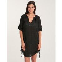 Seafolly Seafolly Textured Gauze Beach Shirt - Black