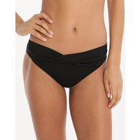 Seafolly Swim Twist Band Hipster Bikini Bottom - Black