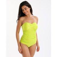 Seaspray Seaspray Just Colour Draped Bandeau Swimsuit - Chartreuse