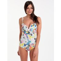 Sunseeker New Botanical D Cup Plunge One Piece - White