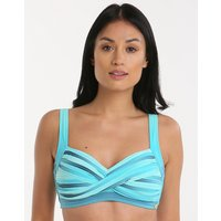 Sunseeker Ombre Twist Front DD E Cup Top - Turquoise