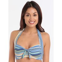 Sunseeker Prismatic Stripe B - D Halter Top - Aqua Splash