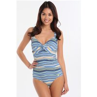 Sunseeker Prismatic Stripe D Cup One Piece - Aqua Splash