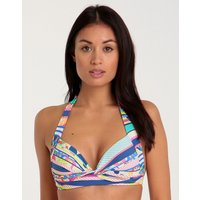 Sunseeker Tropical Rainbow Halter Top - Cobalt