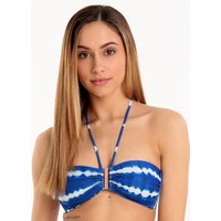 Watercult Tie Dye Tribe B Cup Bandeau - Pacific White