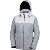Columbia Womens Snow Dream Jacket - Citrus Grey/White