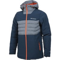 Columbia Mens White Horizon Hybrid Jacket - Collegiate Navy/ Orange