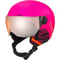 Bolle Kids Quiz Visor Ski Helmet - Matte Hot Pink/orange Gun Visor