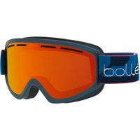 Bolle Schuss Ski Goggle - Matte Navy With Sunrise Lens