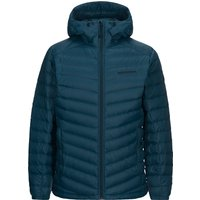 Peak Performance Mens Frost Down Hood Jacket - Teal Extreme