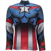 Spyder Mens Marvel Tech Zip T Neck Mid Layer - Captain
