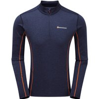 Montane Mens Dart Zip Neck T Shirt - Antarctic Blue