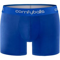 Comfyballs Mens Cotton Long Boxer - All Blue
