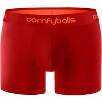 Comfyballs Mens Performance Long Boxer - Lipstick Tangerine