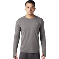 Mountain Hardwear Mens Ghee Long Sleeve Crew T Shirt - Heather Shark