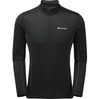 Montane Mens Dart Zip Neck T Shirt - Black