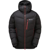 Montane Mens Resolute Down Jacket - Black Alpine Red