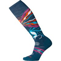 SmartWool Womens PhD Ski Medium Pattern Sock - Deep Marlin