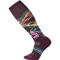 SmartWool Womens PhD Ski Medium Pattern Sock - Bordeaux Print