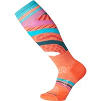 SmartWool Womens PhD Ski Light Pattern Sock - Habanero