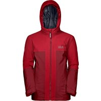 Jack Wolfskin Boys Powder Mountain Ski Jacket - Dark Red Lacquer