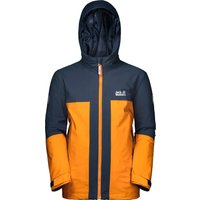 Jack Wolfskin Boys Powder Mountain Ski Jacket - Rusty Orange