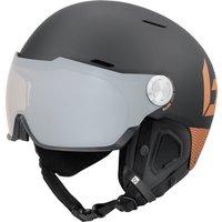Bolle Might Visor Premium Ski Helmet with Visor - Matte Black and Blush Gold