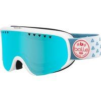 Bolle Womens Scarlett Ski Goggle - Matte White Triangle with Photochromatic Vermillon Lens