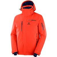 Salomon Mens Brilliant Ski Jacket - Cherry Tomato
