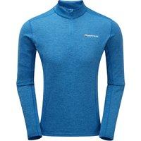 Montane Mens Dart Zip Neck T Shirt - Electric Blue