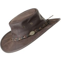 Barmah Squashy Roo Hat - Brown Crackle