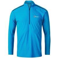Berghaus Mens Super Tech Tee Ls Zip T Shirt - Adriatic Blue