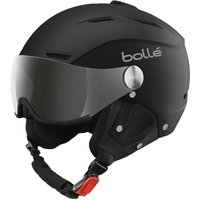 Bolle Backline Visor Ski Helmet - Soft Black And Silver