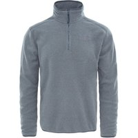 The North Face Mens 100 Glacier Quarter Zip Fleece - TNF Medium Grey/High Rise Grey