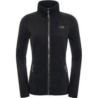 Womens 100 Glacier Full Zip Fleece - TNF Black - Large Black