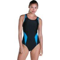 Speedo Speedo Fit PowerMesh Pro Swimsuit - Black and Windsor Blue