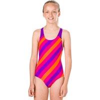 Speedo Girls Endurance 10 Stripe Allover Splashback Swimsuit