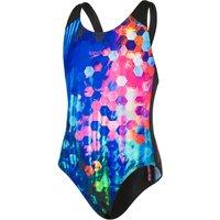 Speedo Girls Endurance 10 Bubble Placement Digital Splashback Swimsuit