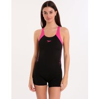 Speedo Endurance Plus Boom Splice Legsuit - Black and Electric Pink
