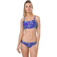 Speedo Endurance 10 Boom Two Piece - Blue and Zest