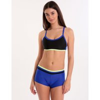 Speedo Endurance 10 Hydractive Two Piece - Black and Chroma Blue